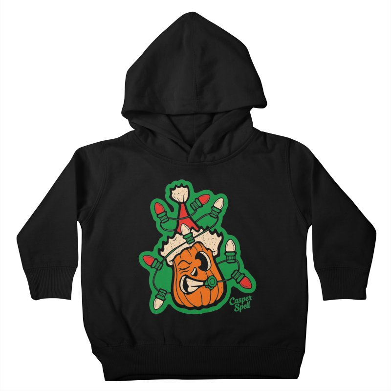 Halloween Gettin' Lit for Xmas Kids Toddler Pullover Hoody by Casper Spell's Shop