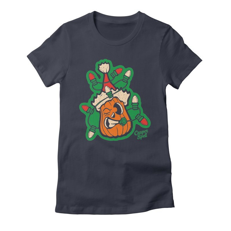 Halloween Gettin' Lit for Xmas Women's T-Shirt by Casper Spell's Shop
