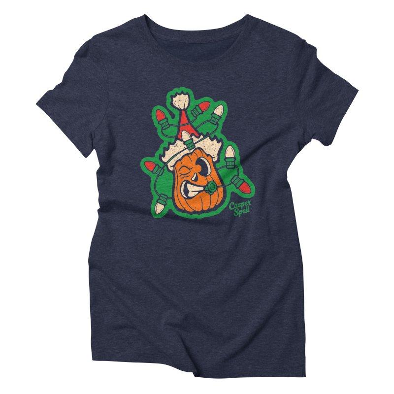 Halloween Gettin' Lit for Xmas Women's T-Shirt by Casper Spell's Shop