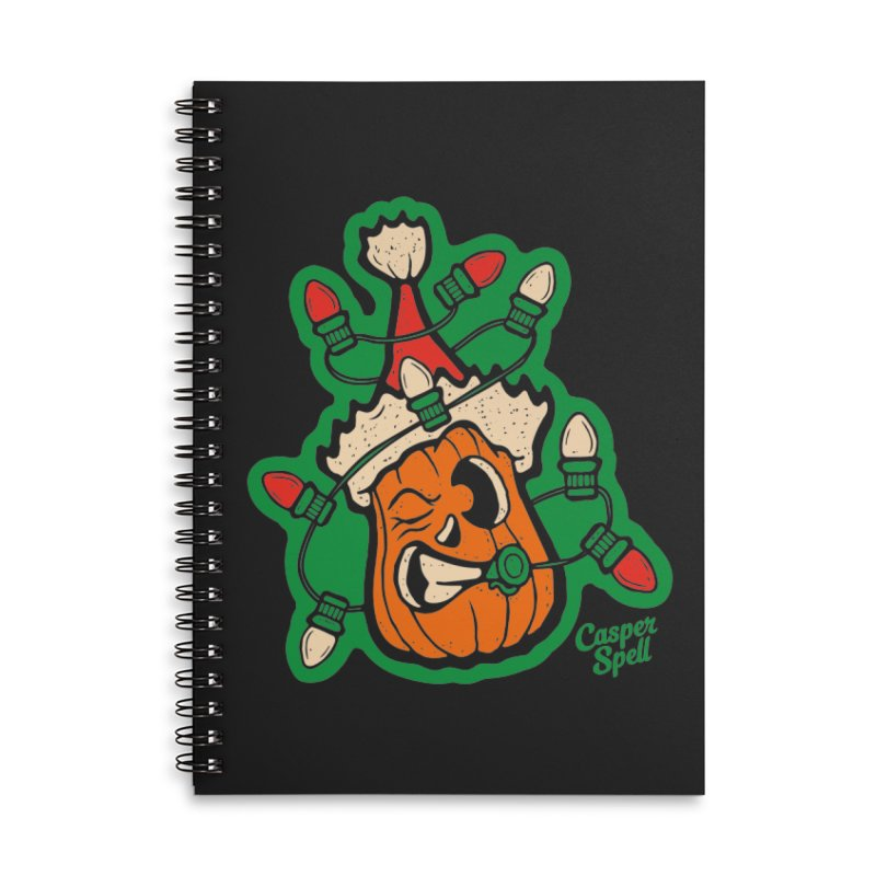 Halloween Gettin' Lit for Xmas Accessories Notebook by Casper Spell's Shop