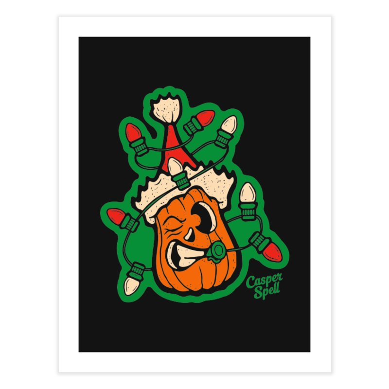 Halloween Gettin' Lit for Xmas Home Fine Art Print by Casper Spell's Shop