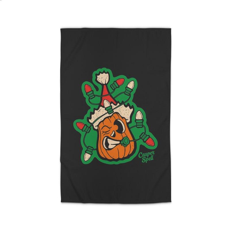 Halloween Gettin' Lit for Xmas Home Rug by Casper Spell's Shop