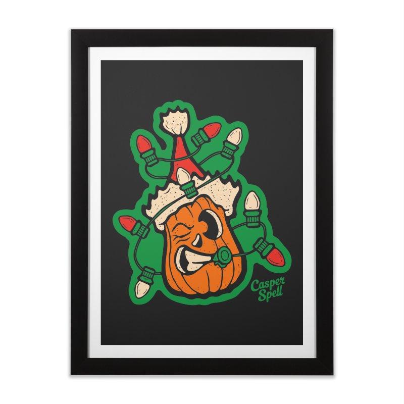 Halloween Gettin' Lit for Xmas Home Framed Fine Art Print by Casper Spell's Shop