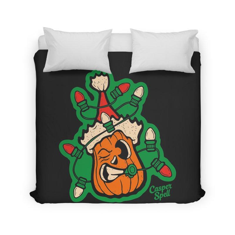 Halloween Gettin' Lit for Xmas Home Duvet by Casper Spell's Shop