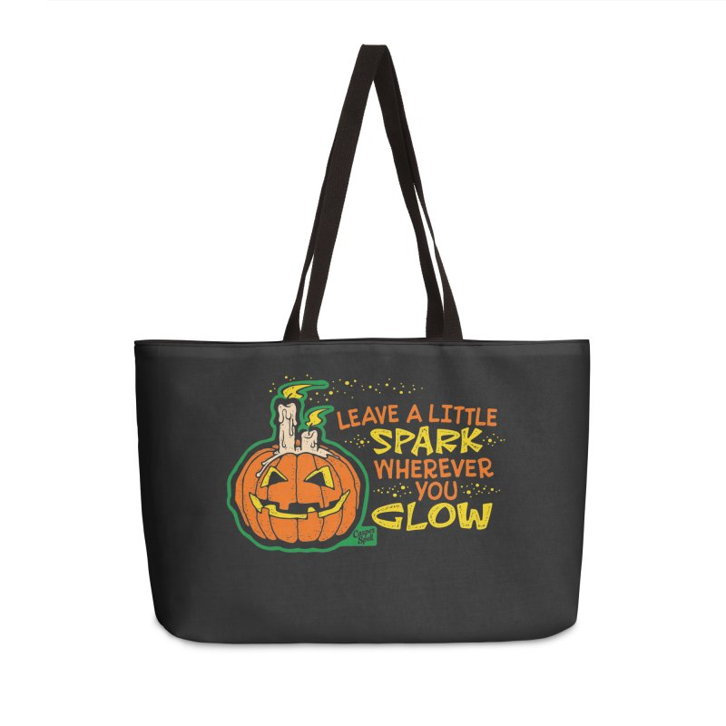 Leave A Little Spark Wherever You Glow Accessories Bag by Casper Spell's Shop