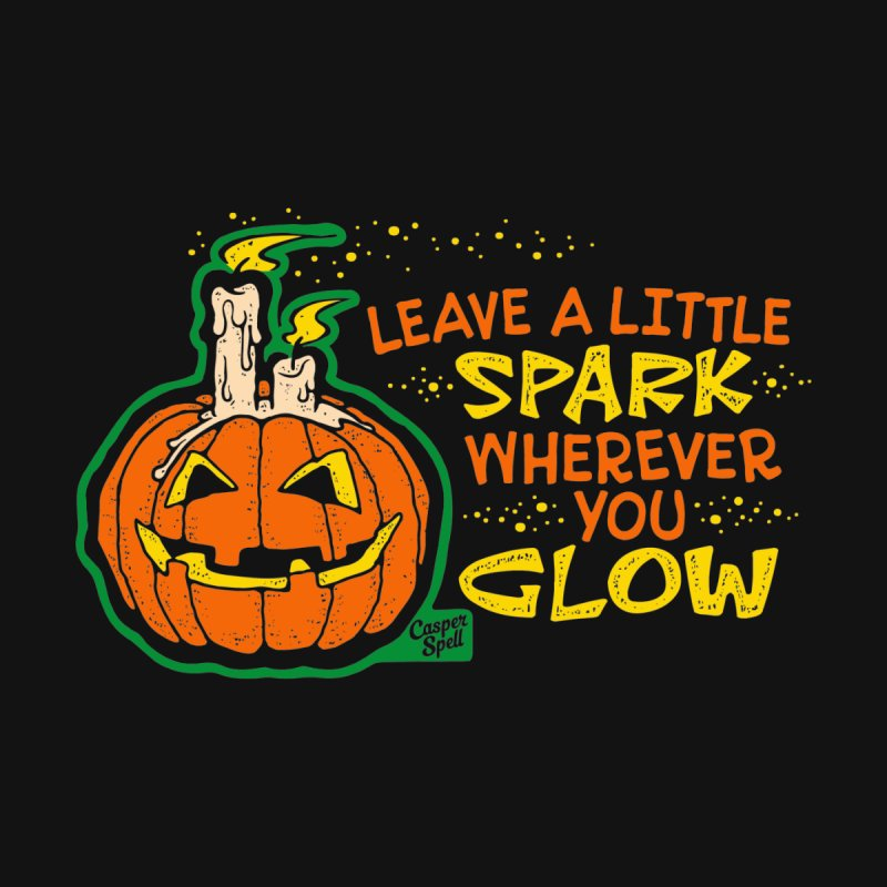 Leave A Little Spark Wherever You Glow Kids T-Shirt by Casper Spell's Shop