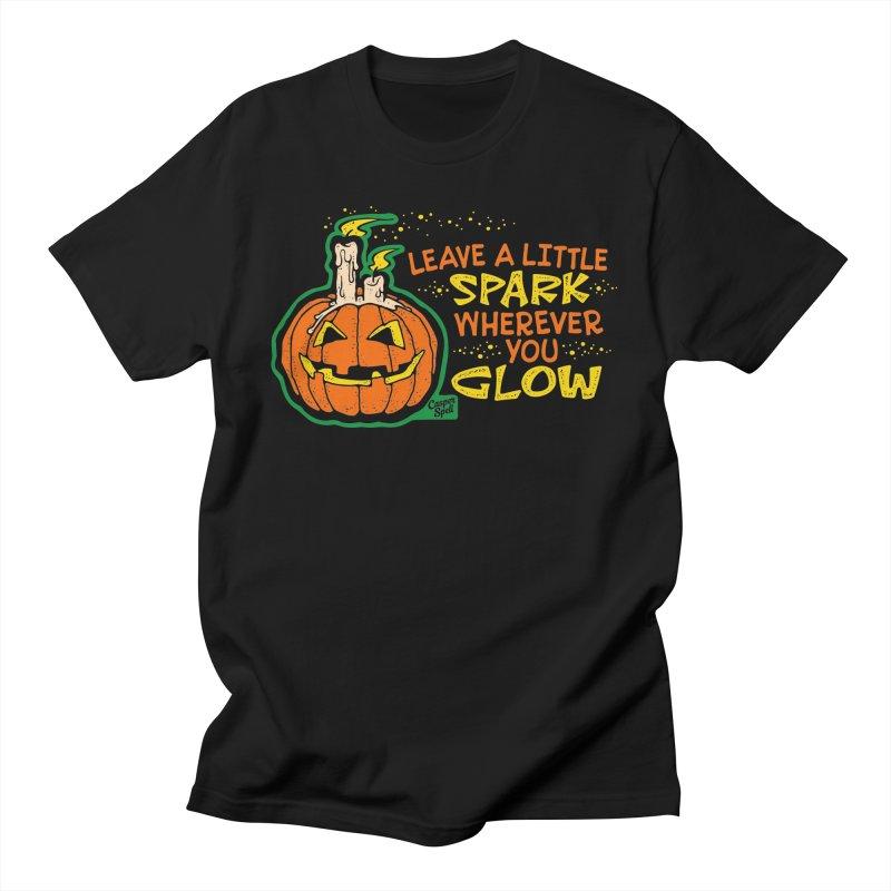 Leave A Little Spark Wherever You Glow Men's T-Shirt by Casper Spell's Shop