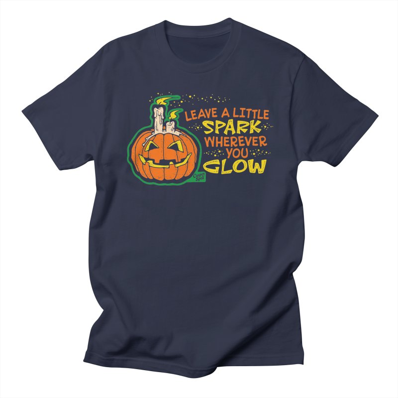 Leave A Little Spark Wherever You Glow Men's T-Shirt by Casper Spell's Shop