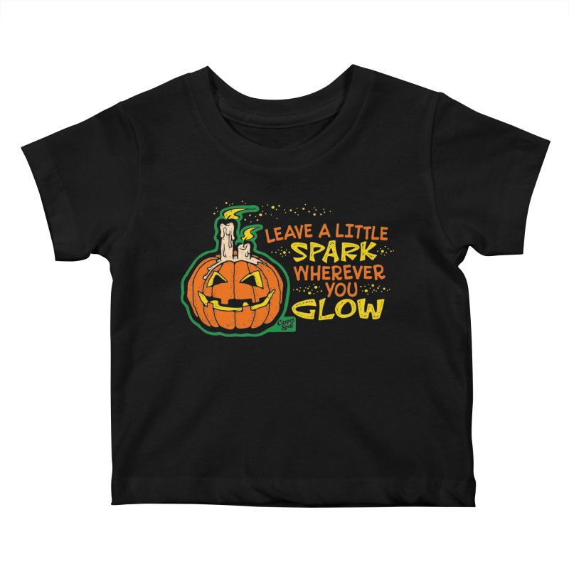 Leave A Little Spark Wherever You Glow Kids Baby T-Shirt by Casper Spell's Shop