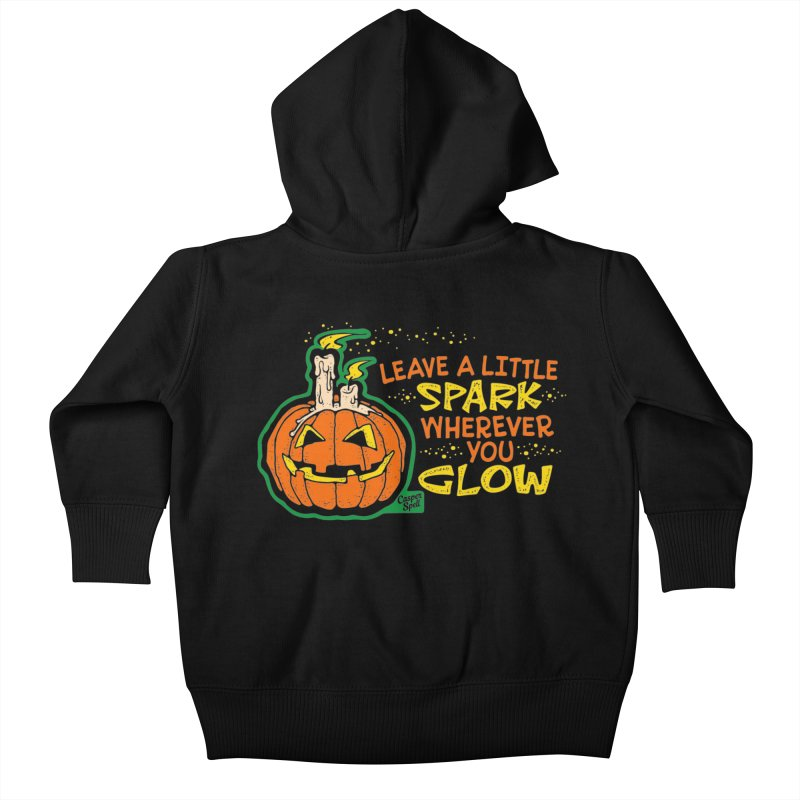 Leave A Little Spark Wherever You Glow Kids Baby Zip-Up Hoody by Casper Spell's Shop