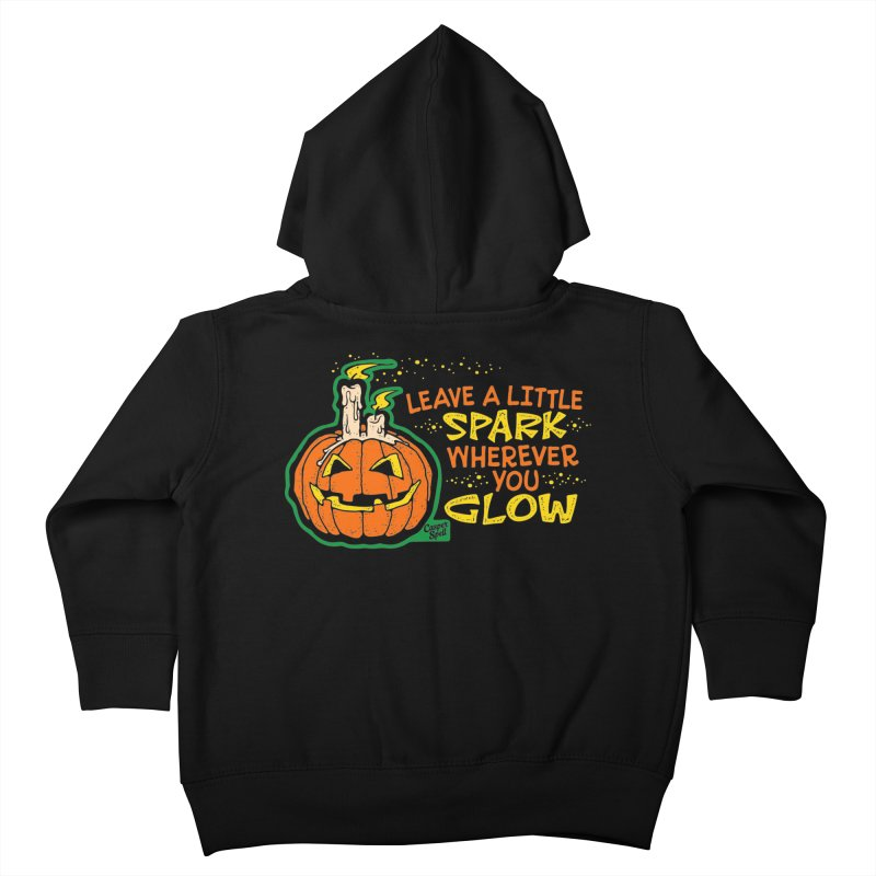 Leave A Little Spark Wherever You Glow Kids Toddler Zip-Up Hoody by Casper Spell's Shop