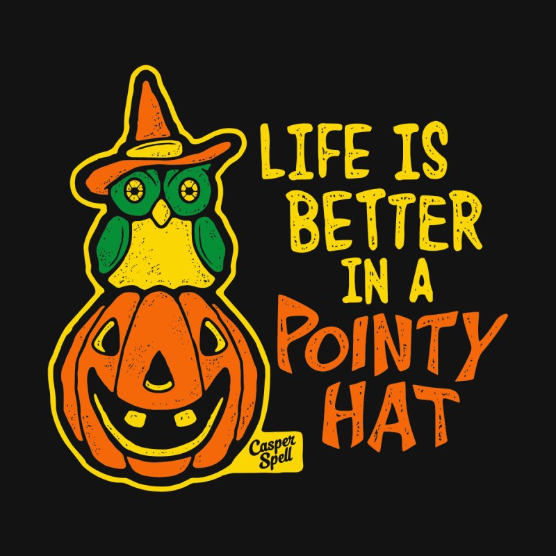Life Is Better In A Pointy Hat Men's V-Neck by Casper Spell's Shop