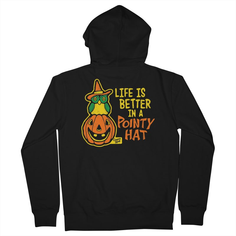 Life Is Better In A Pointy Hat Men's Zip-Up Hoody by Casper Spell's Shop