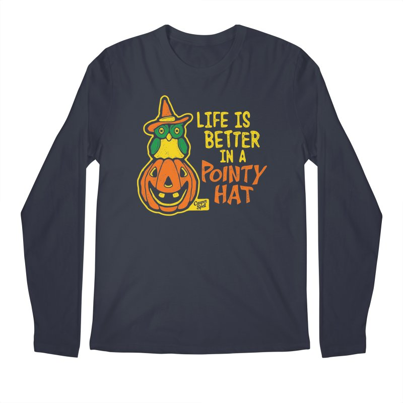 Life Is Better In A Pointy Hat Men's Longsleeve T-Shirt by Casper Spell's Shop