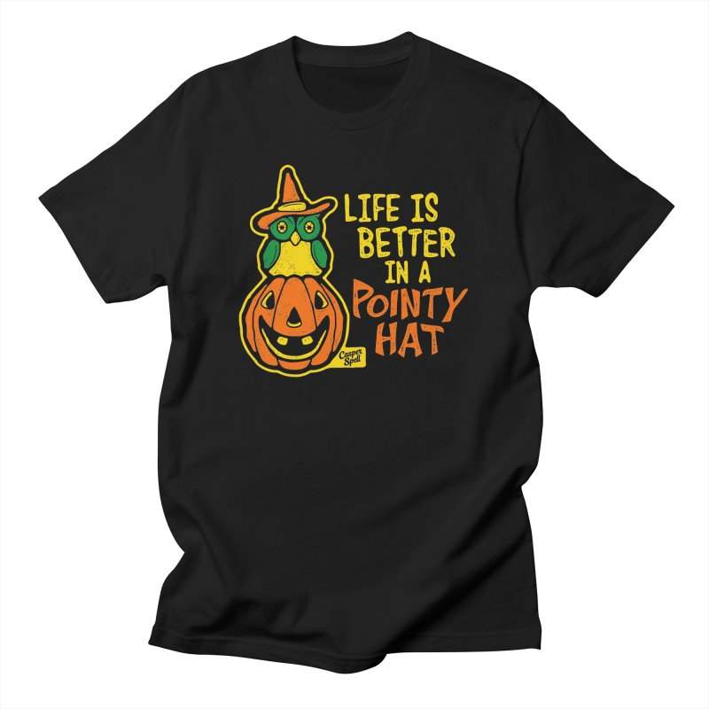 Life Is Better In A Pointy Hat Men's T-Shirt by Casper Spell's Shop