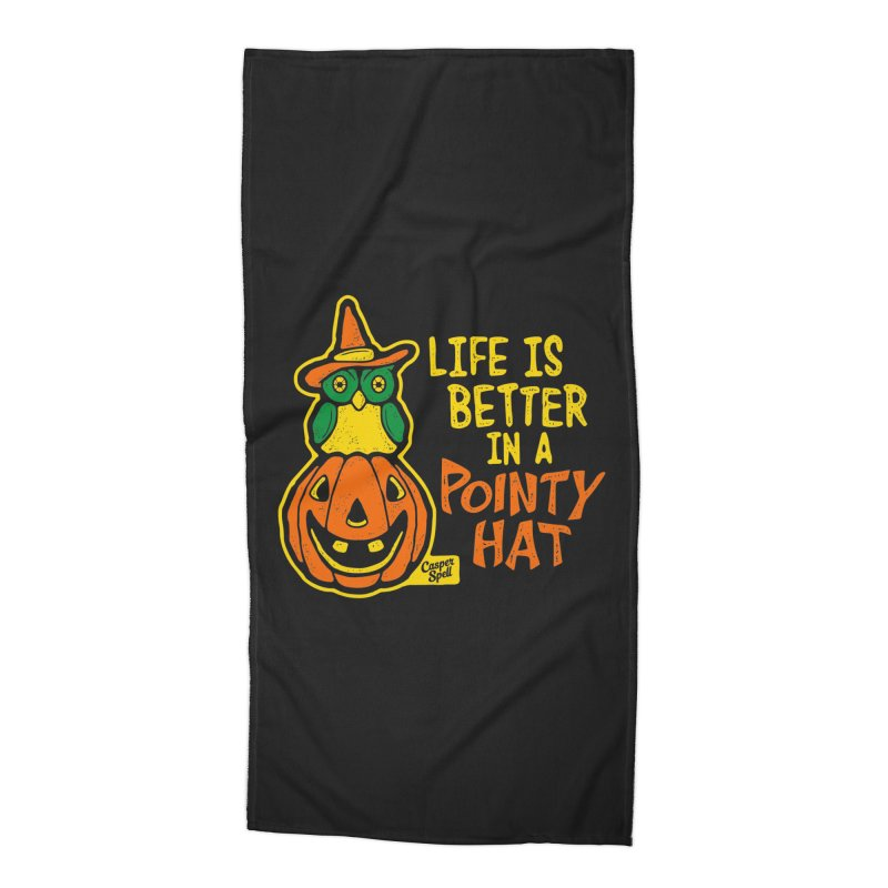 Life Is Better In A Pointy Hat Accessories Beach Towel by Casper Spell's Shop