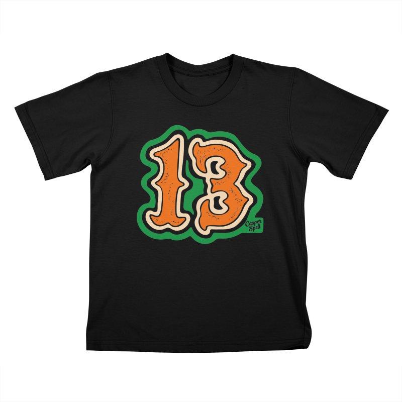 13 by Casper Spell Kids T-Shirt by Casper Spell's Shop