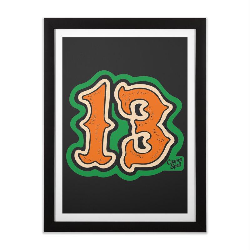 13 by Casper Spell Home Framed Fine Art Print by Casper Spell's Shop