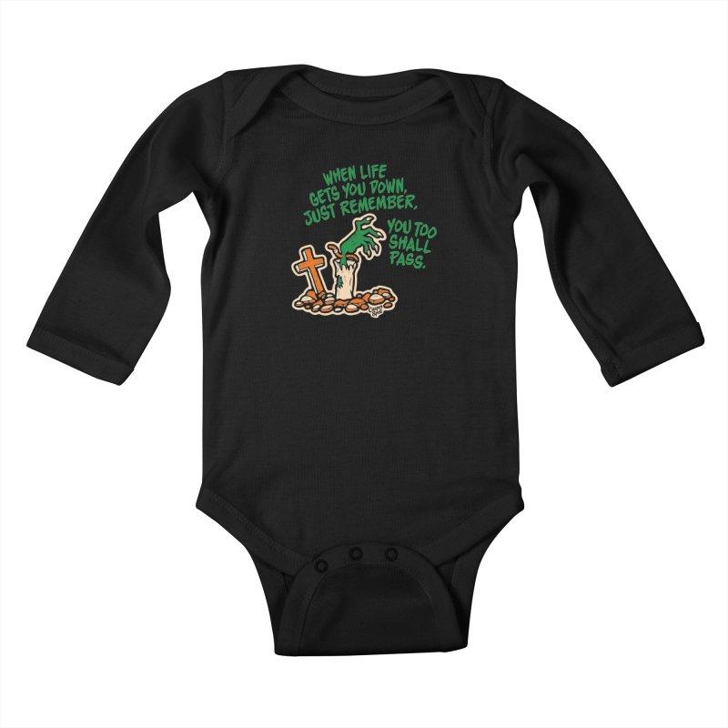 Wave from the Grave by Casper Spell Kids Baby Longsleeve Bodysuit by Casper Spell's Shop