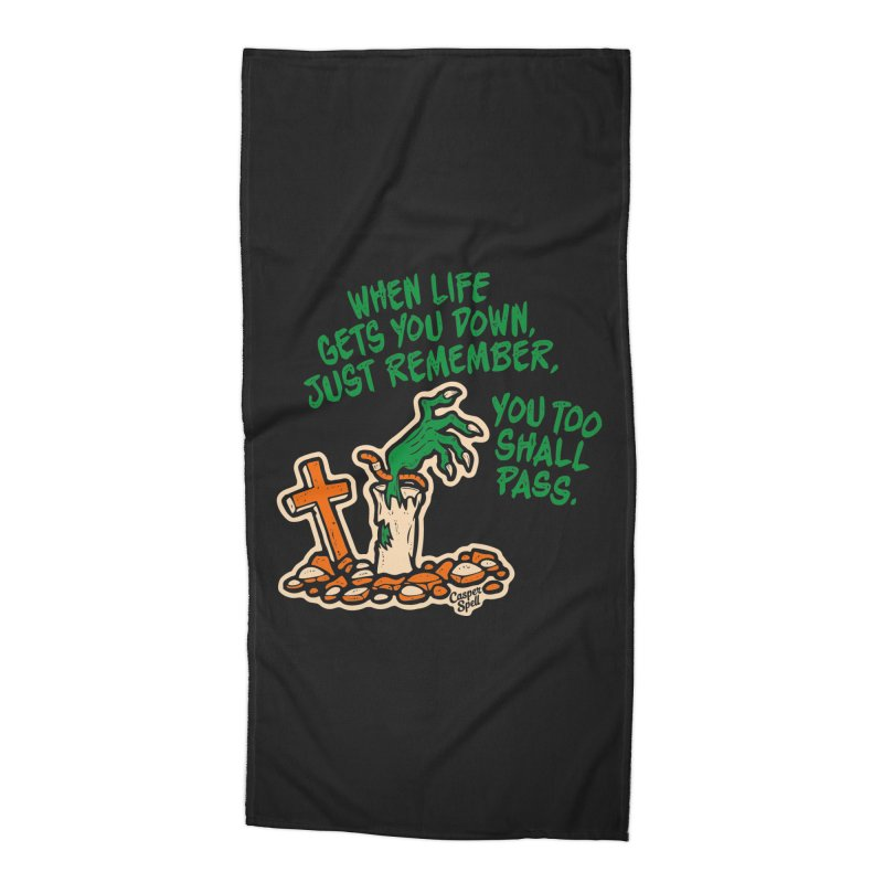 Wave from the Grave by Casper Spell Accessories Beach Towel by Casper Spell's Shop