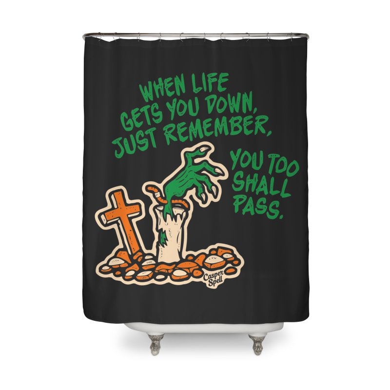 Wave from the Grave by Casper Spell Home Shower Curtain by Casper Spell's Shop