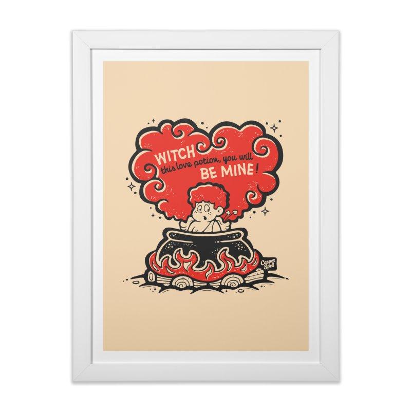 Cupid in Cauldron by Casper Spell Home Framed Fine Art Print by Casper Spell's Shop