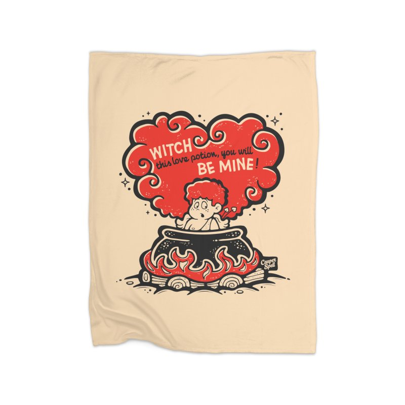 Cupid in Cauldron by Casper Spell Home Blanket by Casper Spell's Shop
