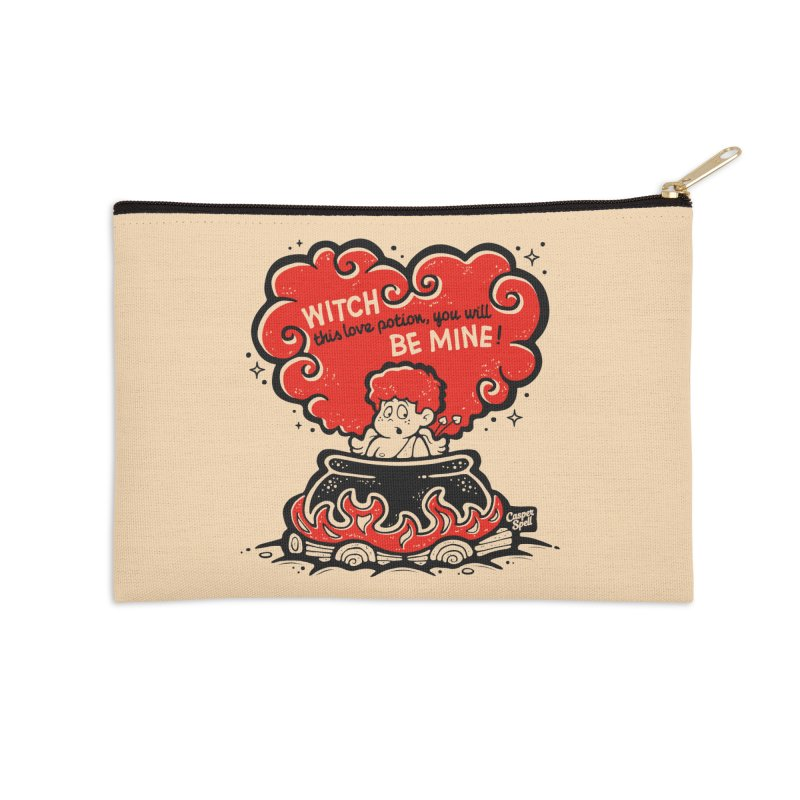 Cupid in Cauldron by Casper Spell Accessories Zip Pouch by Casper Spell's Shop