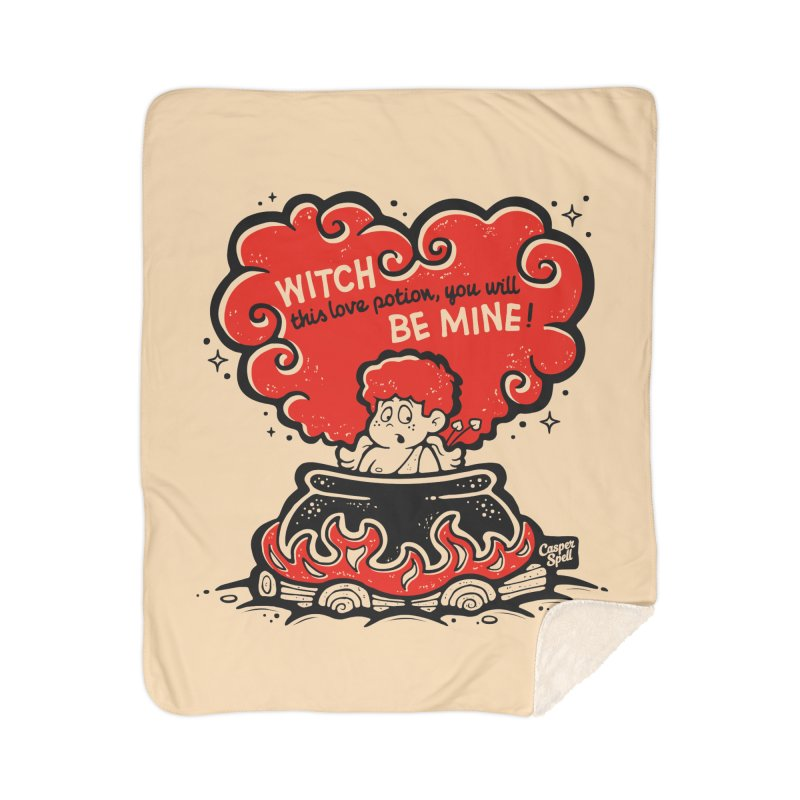 Cupid in Cauldron by Casper Spell Home Blanket by Casper Spell's Shop