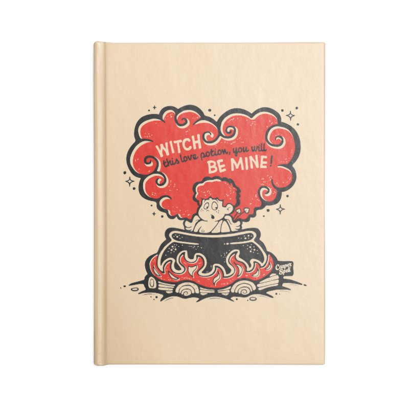 Cupid in Cauldron by Casper Spell Accessories Lined Journal Notebook by Casper Spell's Shop