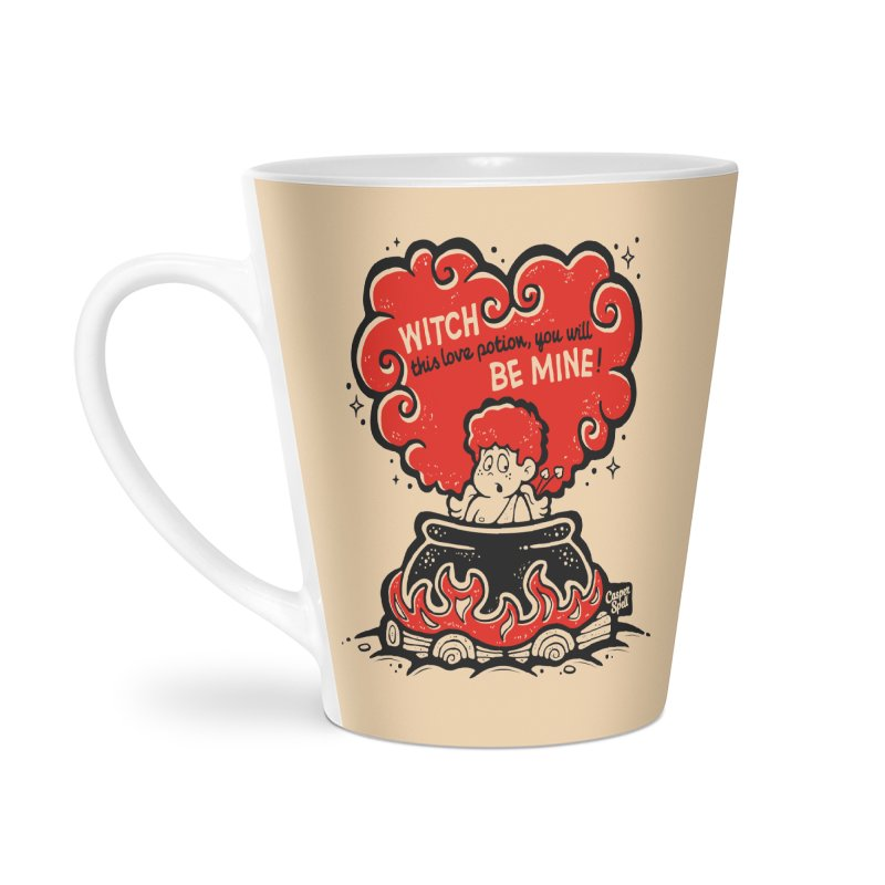 Cupid in Cauldron by Casper Spell Accessories Latte Mug by Casper Spell's Shop