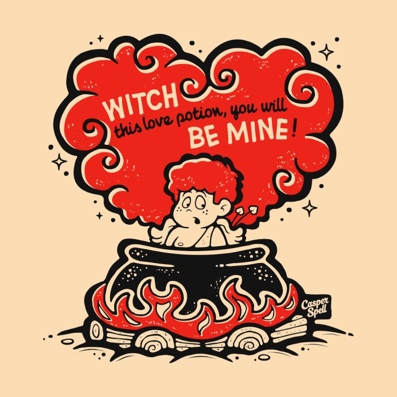 Cupid in Cauldron by Casper Spell Kids T-Shirt by Casper Spell's Shop