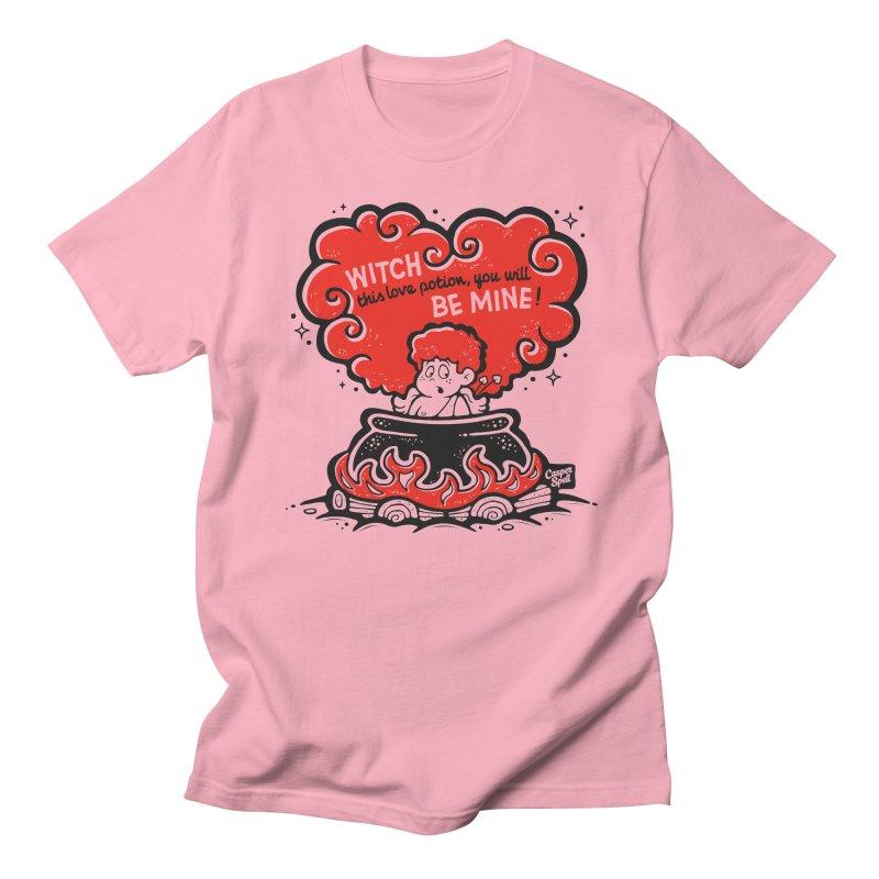 Cupid in Cauldron by Casper Spell Men's T-Shirt by Casper Spell's Shop