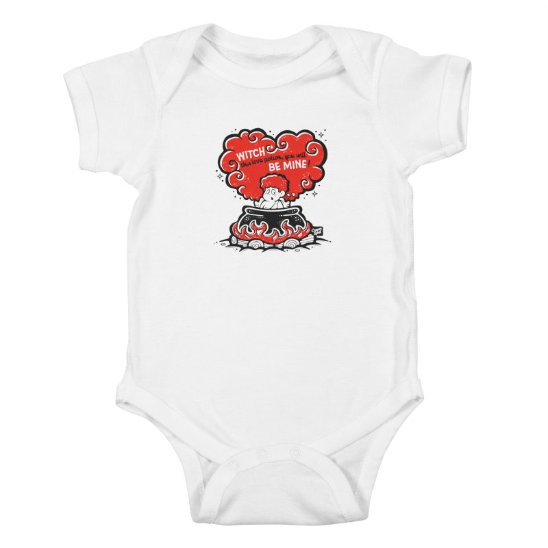 Cupid in Cauldron by Casper Spell Kids Baby Bodysuit by Casper Spell's Shop