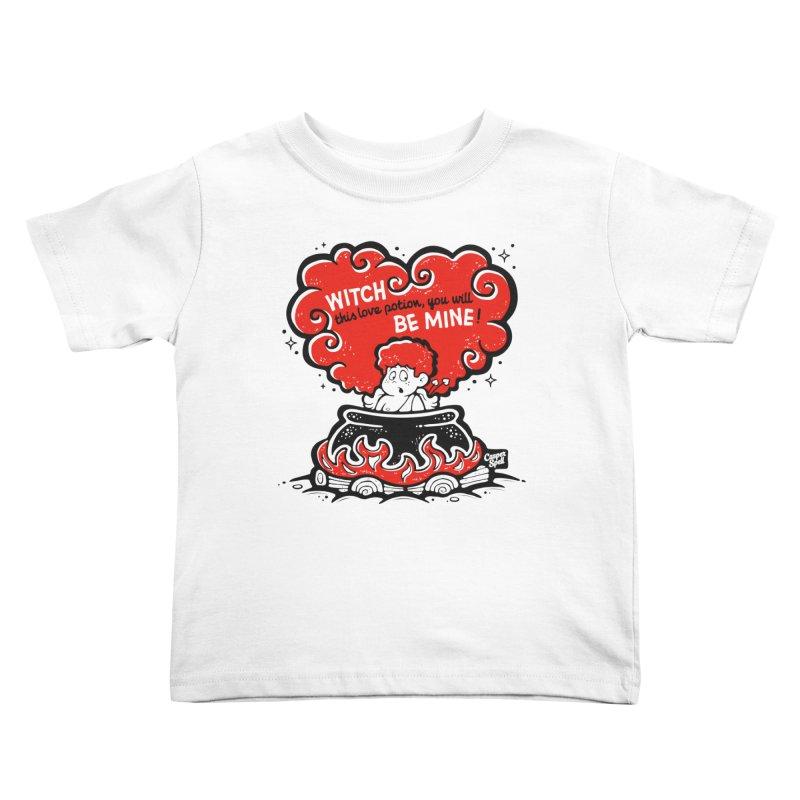 Cupid in Cauldron by Casper Spell Kids Toddler T-Shirt by Casper Spell's Shop