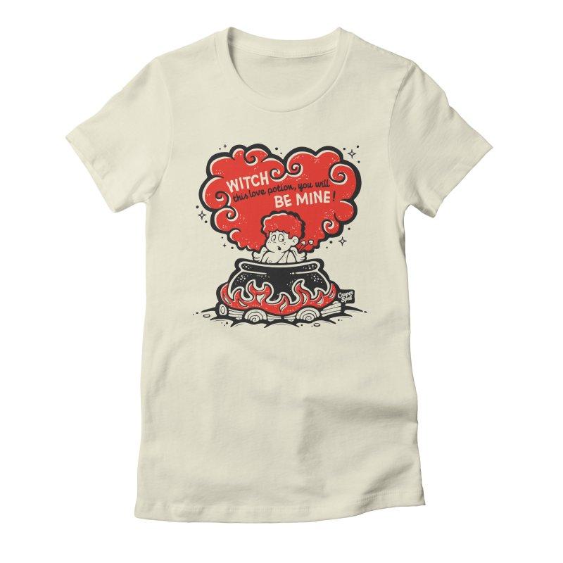 Cupid in Cauldron by Casper Spell Women's T-Shirt by Casper Spell's Shop