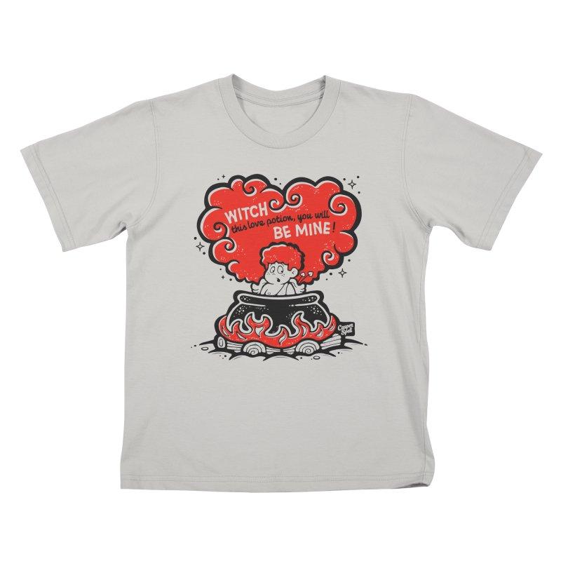 Cupid in Cauldron by Casper Spell Kids T-shirt by Casper Spell's Shop