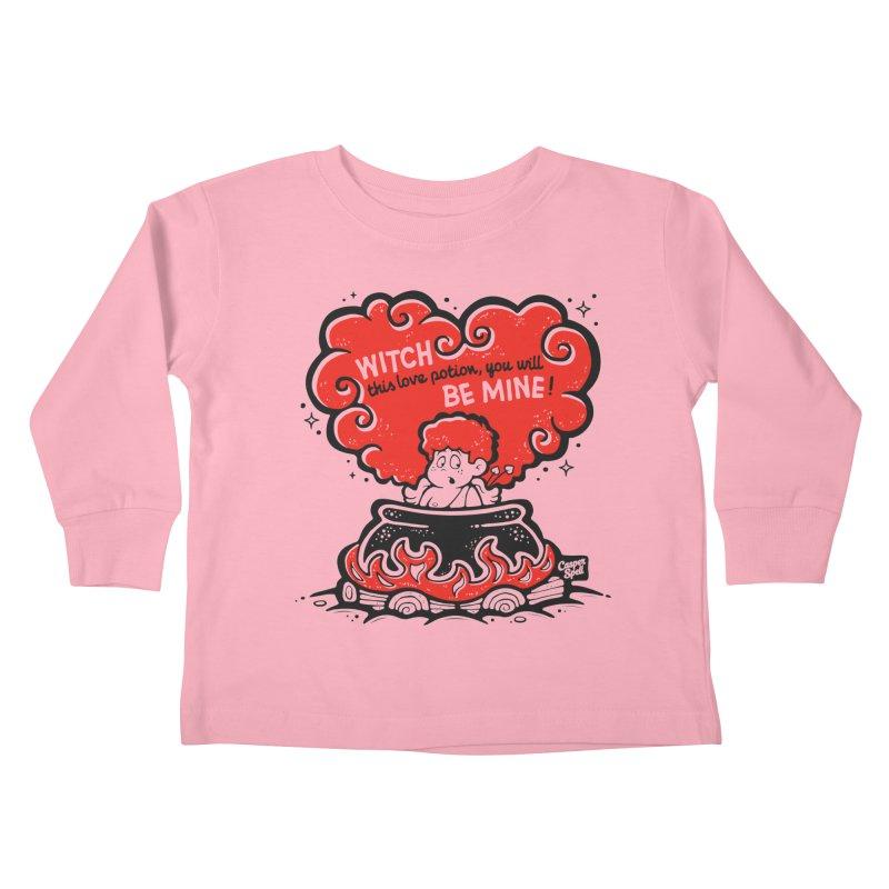 Cupid in Cauldron by Casper Spell Kids Toddler Longsleeve T-Shirt by Casper Spell's Shop
