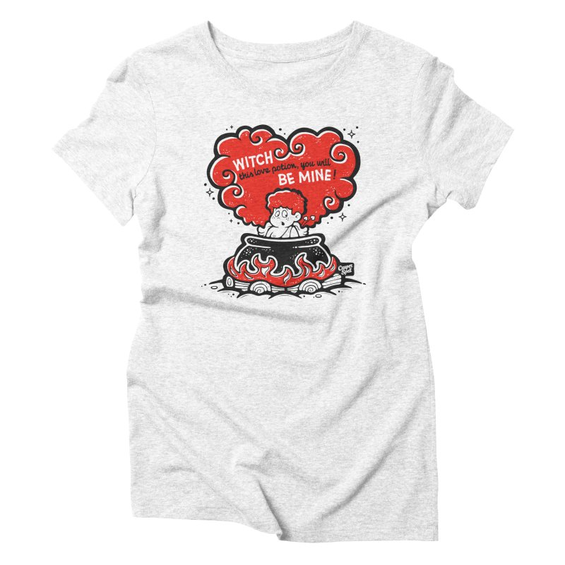 Cupid in Cauldron by Casper Spell in Women's Triblend T-shirt Heather White by Casper Spell's Shop
