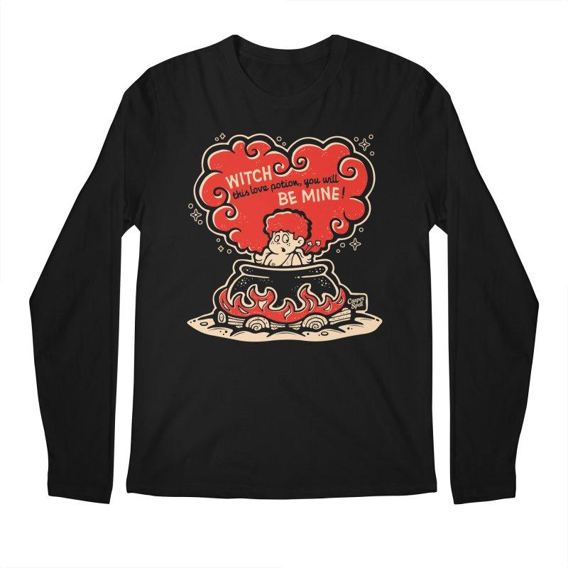 Cupid in Cauldron (Black) by Casper Spell Men's Longsleeve T-Shirt by Casper Spell's Shop