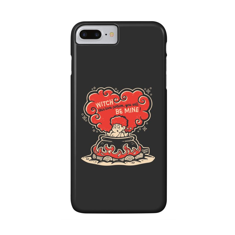 Cupid in Cauldron (Black) by Casper Spell Accessories Phone Case by Casper Spell's Shop