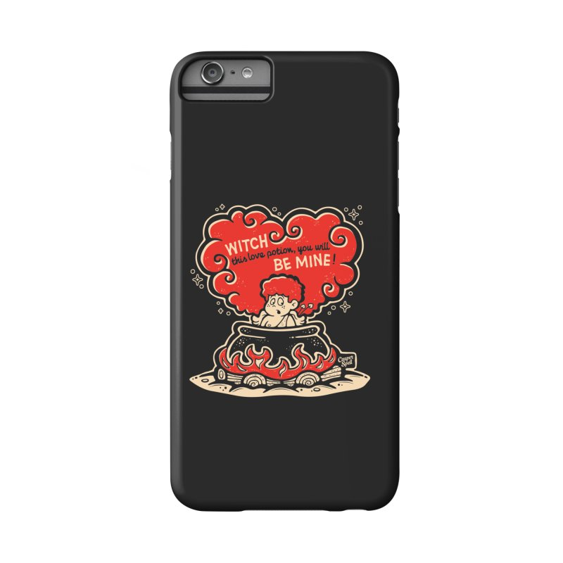Cupid in Cauldron (Black) by Casper Spell Accessories Phone Case by Casper Spell's Shop