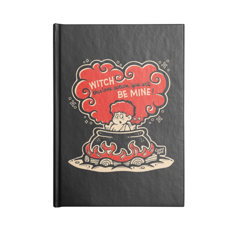 Cupid in Cauldron (Black) by Casper Spell Accessories Notebook by Casper Spell's Shop