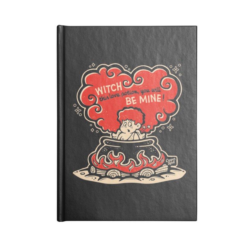 Cupid in Cauldron (Black) by Casper Spell Accessories Notebook by Casper Spell's Shop