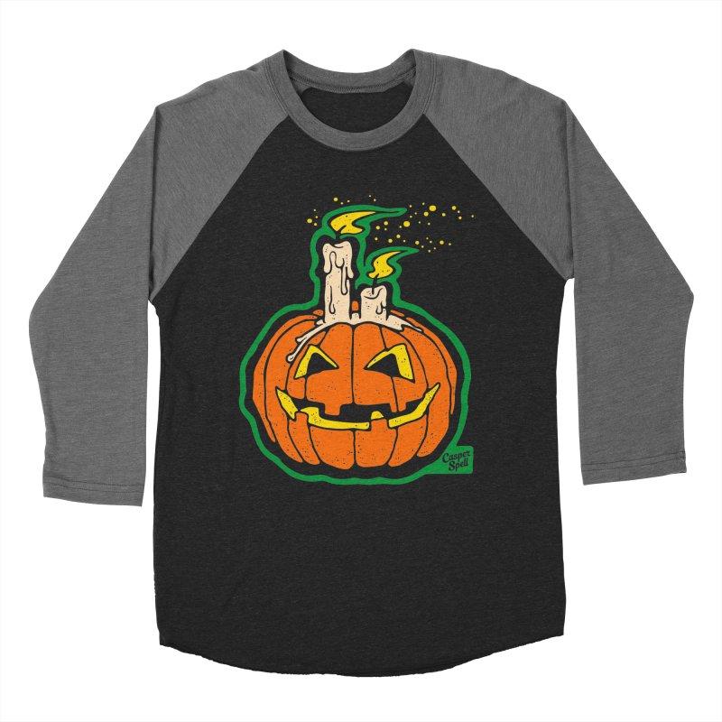 Light All Night Men's Baseball Triblend T-Shirt by Casper Spell's Shop