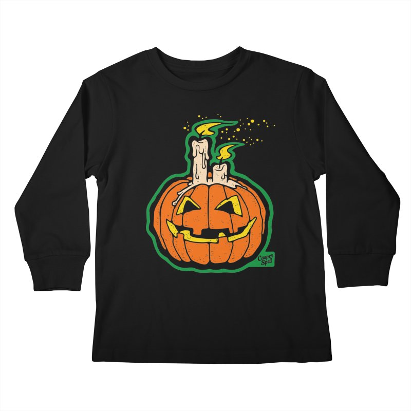 Light All Night in Kids Longsleeve T-Shirt Black by Casper Spell's Shop