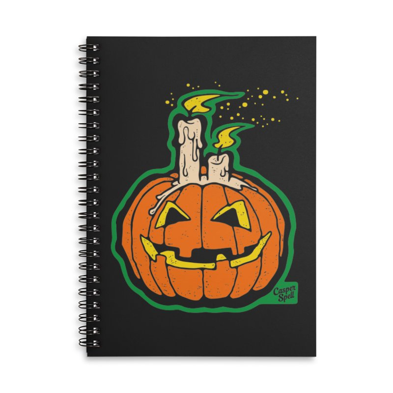 Light All Night Accessories Lined Spiral Notebook by Casper Spell's Shop