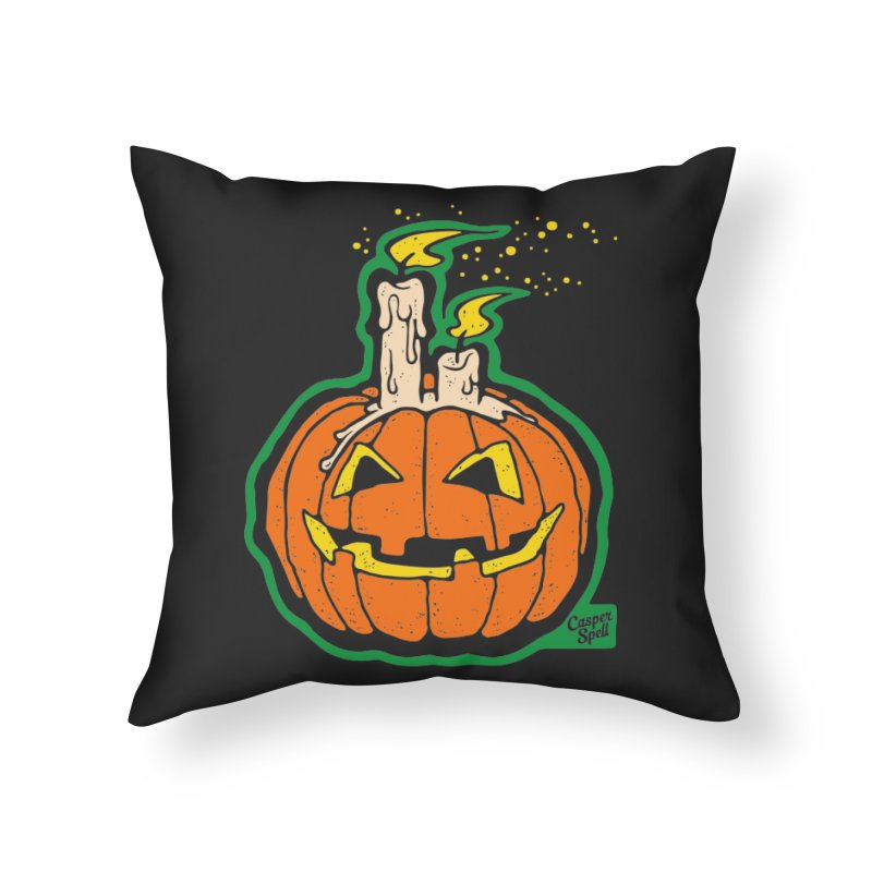 Light All Night Home Throw Pillow by Casper Spell's Shop