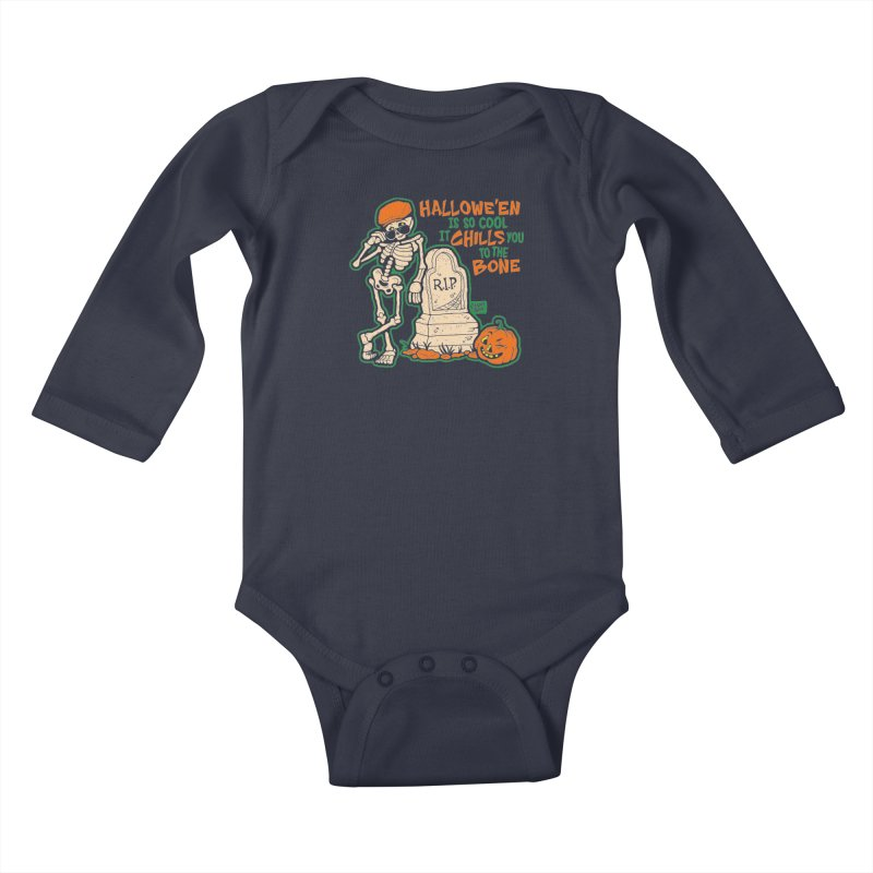 Chills You to the Bone Kids Baby Longsleeve Bodysuit by Casper Spell's Shop