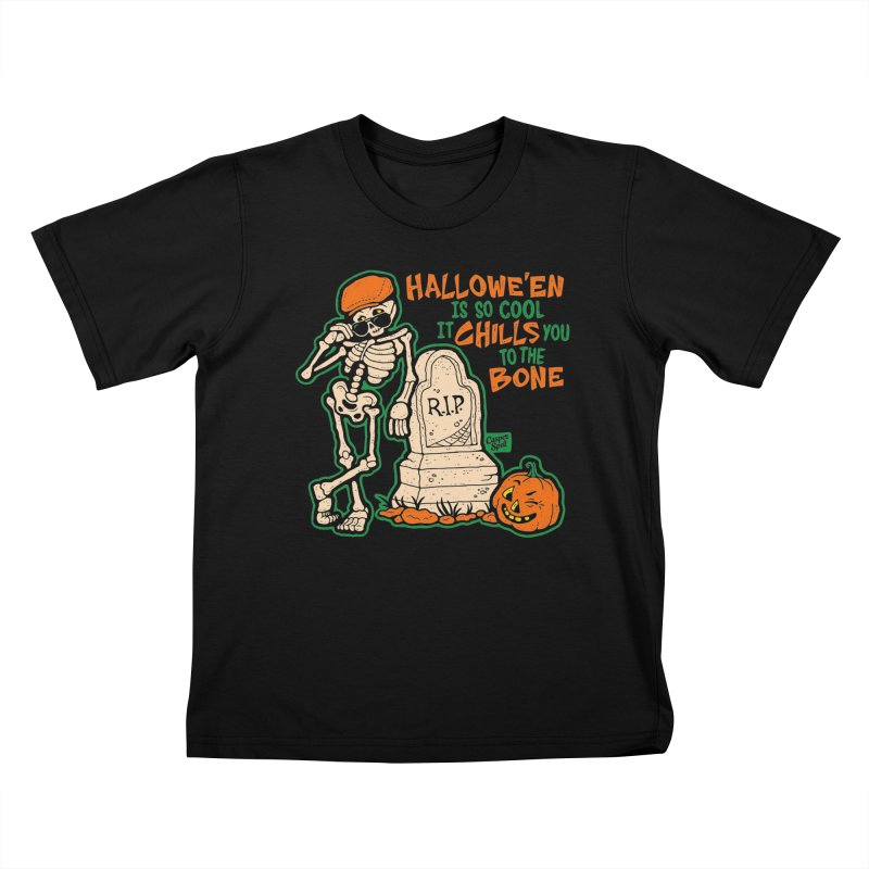 Chills You to the Bone Kids T-Shirt by Casper Spell's Shop